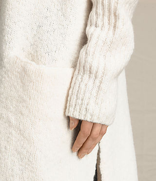 Women's Popcorn Cardigan (Chalk White) - product_image_alt_text_2