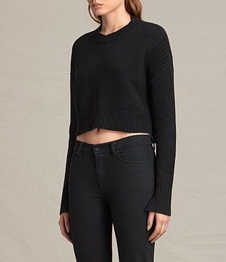 Womens Haisey Alpha Sweater (Black) - product_image_alt_text_2