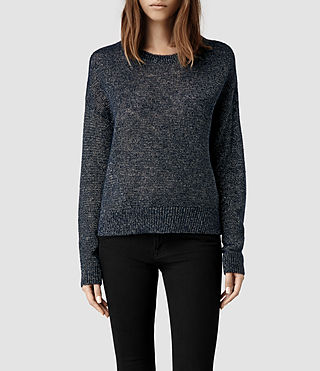 Womens Agnes Sweater (Ink/Gold)