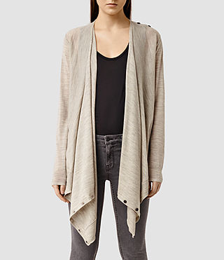 Womens Iona Multi Cardigan (Sable Brown Marl)