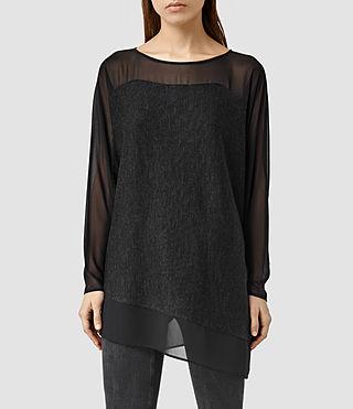 Womens Malo Sweater (CIND BLK MARL/BLCK)