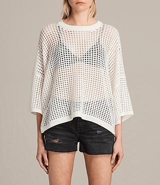 Womens 크로스바이 크롭 점퍼 (CLOUD WHITE) - product_image_alt_text_1