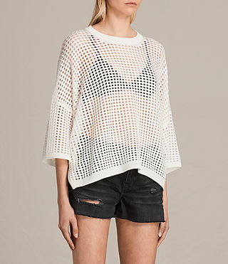 Women's Crosby Cropped Jumper (CLOUD WHITE) - product_image_alt_text_2