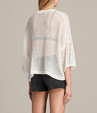 Women's Crosby Cropped Jumper (CLOUD WHITE) - product_image_alt_text_3