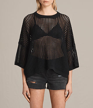 Women's Crosby Cropped Jumper (Black) -