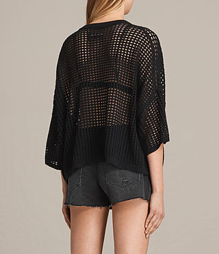 Damen Crosby Cropped Jumper (Black) - product_image_alt_text_3