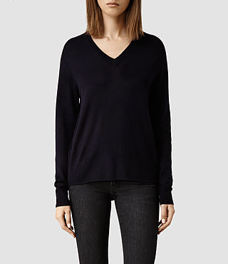 Womens Wasson Merino Sweater (Ink)