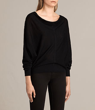 Women's Elgar Merino Cowl Neck Jumper (Black) - Image 2