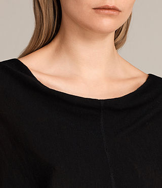 Women's Elgar Merino Cowl Neck Jumper (Black) - Image 3