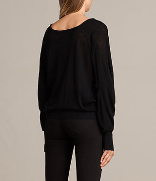Women's Elgar Merino Cowl Neck Jumper (Black) - Image 4