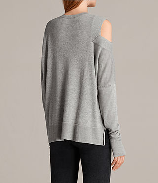 Women's Cecily Crew Neck Jumper (Grey Marl) - product_image_alt_text_4