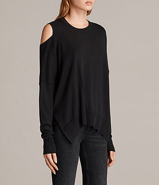 Donne Maglione Cecily Crew Neck (Black) - product_image_alt_text_3