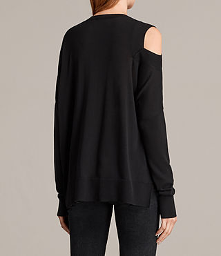 Donne Maglione Cecily Crew Neck (Black) - product_image_alt_text_4