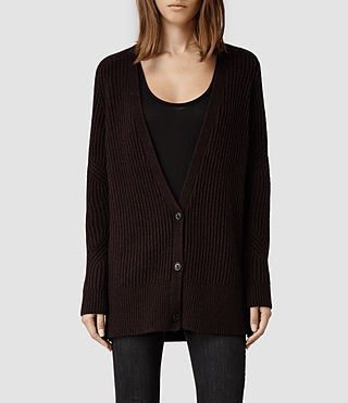 Womens Quinta Cardigan (Deep Burgundy)