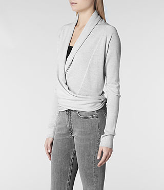 Womens Wasson Pirate Cardigan (Mist Marl) - product_image_alt_text_2