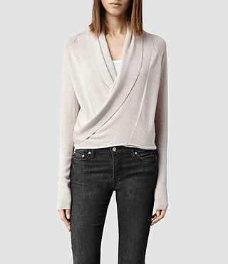 Womens Wasson Pirate Cardigan (Oyster)