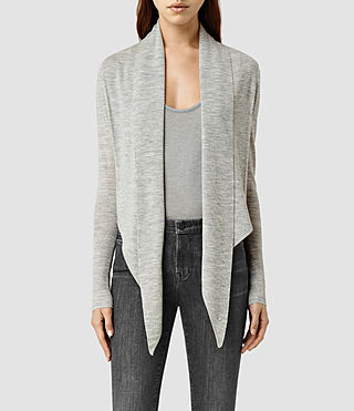 Womens Wasson Pirate Cardigan (MIRAGE GREY)