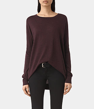 Femmes New Wave Jumper (BORDEAUX RED)