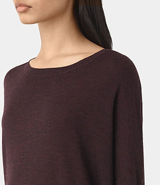 Mujer New Wave Jumper (BORDEAUX RED) - product_image_alt_text_2