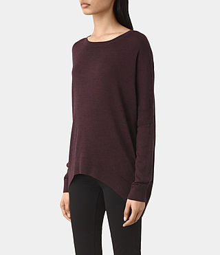 Mujer New Wave Jumper (BORDEAUX RED) - product_image_alt_text_3