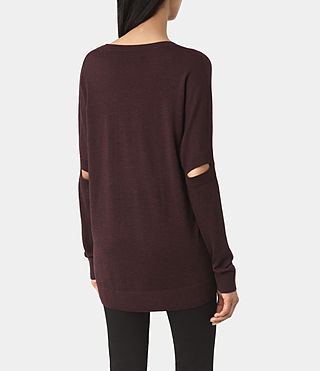Mujer New Wave Jumper (BORDEAUX RED) - product_image_alt_text_4