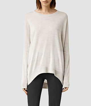 Womens New Wave Sweater (Mist Grey Marl)