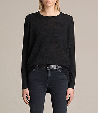 Damen New Wave Jumper (Cinder Black Marl)