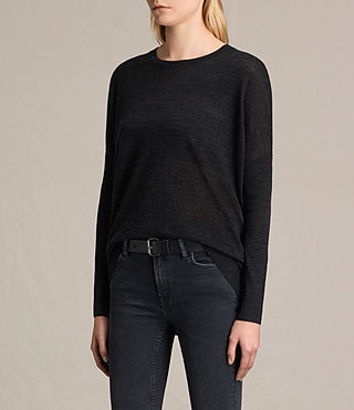 Womens New Wave Sweater (Cinder Black Marl) - product_image_alt_text_3
