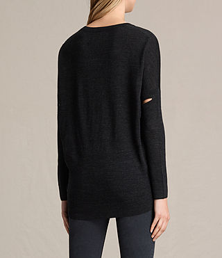 Womens New Wave Sweater (Cinder Black Marl) - product_image_alt_text_4