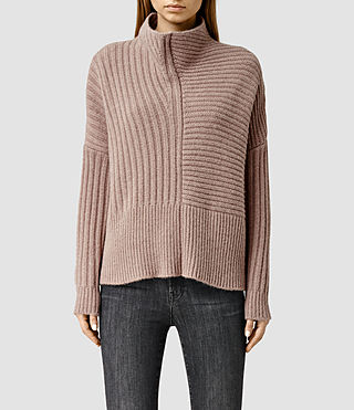 Womens Penryn Sweater (Pale Pink)