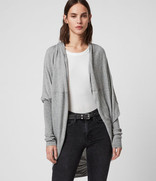 Womens Itat Shrug Cardigan (Grey Marl) - Image 2