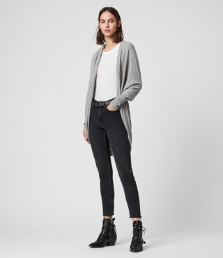 Womens Itat Shrug Cardigan (Grey Marl) - Image 4