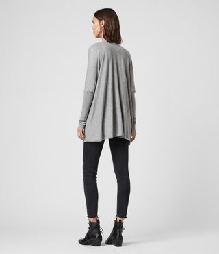 Womens Itat Shrug Cardigan (Grey Marl) - Image 5
