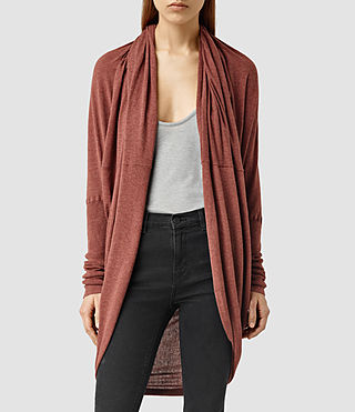 Womens Itat Shrug (SAHARA RED)