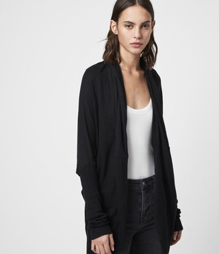 ALLSAINTS US: Womens Itat Shrug Cardigan (Black)