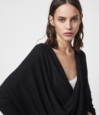 Mujer Itat Shrug Cardigan (Black) - product_image_alt_text_2