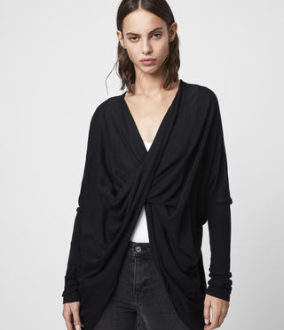 Mujer Itat Shrug Cardigan (Black) - product_image_alt_text_4