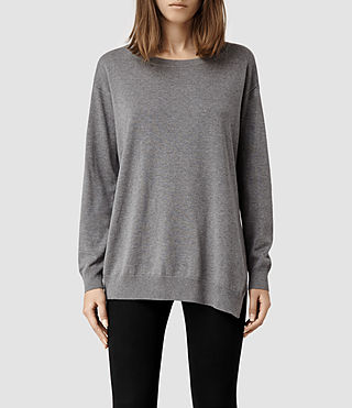 Womens Kimba Sweater (Grey Marl)
