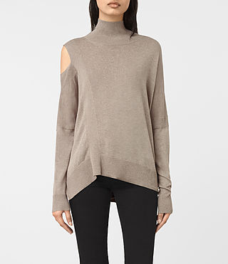 Mujer Cecily Sweater (Sable Brown) - product_image_alt_text_1