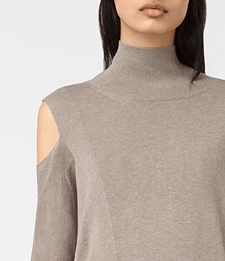 Mujer Cecily Sweater (Sable Brown) - product_image_alt_text_2