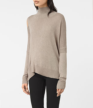 Womens Cecily Sweater (Sable Brown) - product_image_alt_text_3