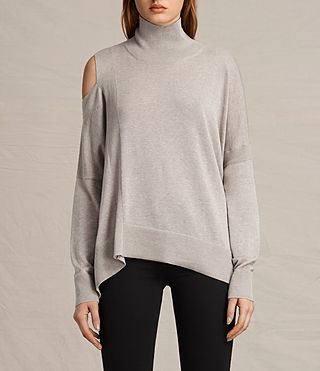 Womens Cecily Sweater (Sable Brown Marl) - product_image_alt_text_1