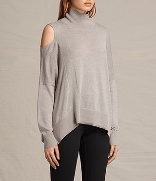 Womens Cecily Sweater (Sable Brown Marl) - product_image_alt_text_3