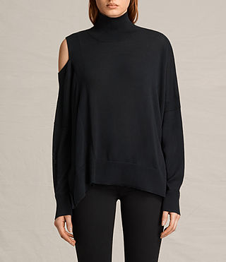 Womens Cecily Sweater (Black) - product_image_alt_text_1
