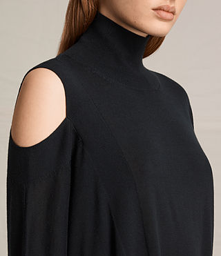 Womens Cecily Sweater (Black) - product_image_alt_text_2