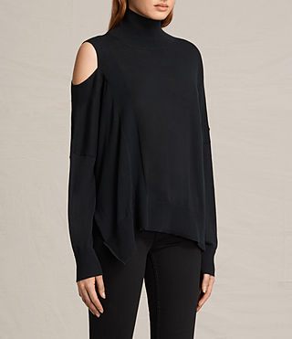Womens Cecily Sweater (Black) - product_image_alt_text_3