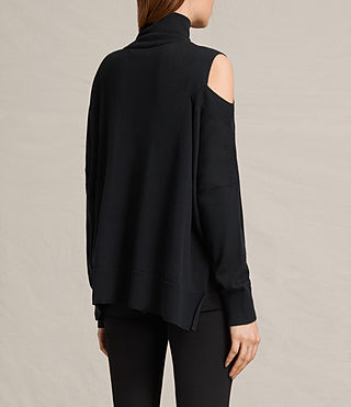 Womens Cecily Sweater (Black) - product_image_alt_text_4