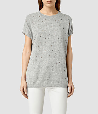 Womens Blink Knitted Tee (MIRAGE GREY)