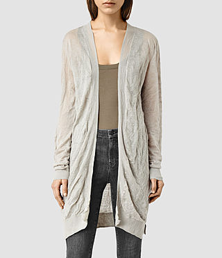 Womens Metor Cardigan (Grey Marl)