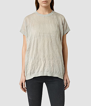 Womens Metor Tee (Grey Marl)